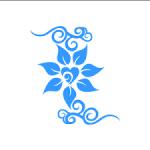 flower blue clipart