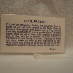GFS Prayer Card